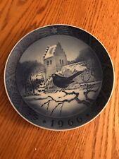 "Royal Copenhagen 1966 Collector Plate ""Blackbird At Christmas Time"" Kai Lange"
