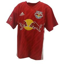 New York Red Bulls Official MLS Adidas Youth Kids Size Athletic Jersey New Tags