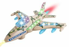 Battery Powered F16 Military Fighter Jet Airplane Toy- Flashing Lights,
