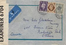 Tangier, 1941, Cover, censored, to Canada