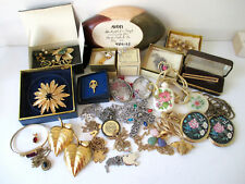 Vintage Avon Collection of Pins Brooches Pendants Trinket Dish Lot of 28