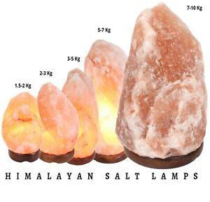 Small-Extra Large Himalayan Salt Lamp Crystal Pink Rock Salt Lamp W Bulb & Plug