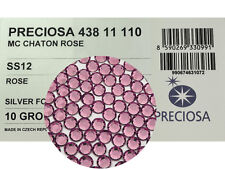 1440 Preciosa Genuine Czech Crystals 12ss Rose color, 8ft MC Flatbacks, ss12 3mm