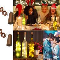 Wine Bottle Lights with Cork LED Patio Jar Lights for Christmas Birthday Wedding