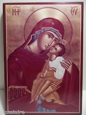 Vintage Holy Transfiguration Monastery MADONNA And CHILD ICON Plaque