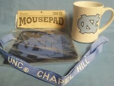 UNIVERSITY OF NORTH CAROLINA GIFT BOX WITH COFFEE MUG, MOUSE PAD AND LANYARD