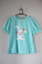 Bodyline Kawaii fairy Kei Lolita Pastel Menta Globo Bunny Rabbit POM POM TEE 2L