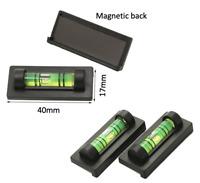 Mini Spirit Level 40x17mm - Magnetic Small Bubble Oil Vial DIY - Free UK Postage