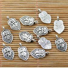40PCS Tibetan silver plated cross pendant charms EF1720