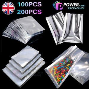Heat Seal Mylar Foil Bags Vacuum Sealer Pouches Storage Bag Aluminium Food Grade