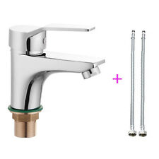 "Hot/Cold Mixer Water Taps Basin Kitchen Bath Wash Basin Faucet + Tow 23.6"" Hose"