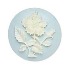 3293CB Cabochon Cab Acrylic Flower Blue Hibiscus Large 33mm, Round Cameo 1 Qty