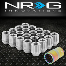NRG INNOVATIONS LN-T200SL-21 M12X1.5 16PC 27MM OPEN-END LUG NUT + 4X LOCK + KEY