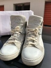 Auth Chanel Signature CC White High Top LTD Sneakers Men Trainer 44 US 11 $925