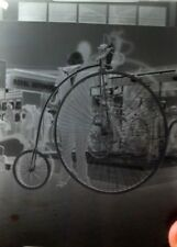 1 X CYCLING / ANTIQUE GLASS NEGATIVE PHOTOGRAPHY PLATE . HISTORICAL IMAGES