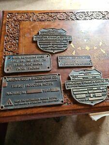 5 Metal Bronze/brass Plaques
