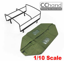 CChand METAL TUBE ROLL BAR & FABIR ROOF1/10 killerbody LC70 Black/Green/White