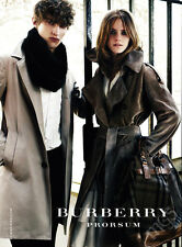 Emma Watson 1-page clipping 2009 ad for Burberry Prorsum