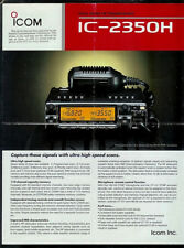ICOM IC-2350H Dual Band FM HAM Radio Laminated Original Dealer Sheet Page