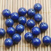 Natural Gemstone Stone Lapis Lazuli  Round Loose Spacer Beads 4/6/8/10mm