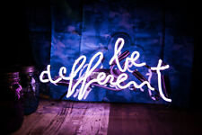 New Be Different Bar Pub Wall Decor Neon Light Sign 14""