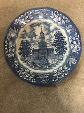 "Vtg Avon Liberty Bell Independence Hall 1776-1976 Bicentennial 8"" Plate Lot Box"