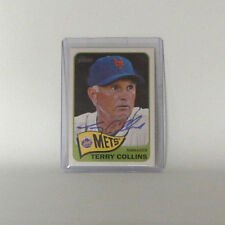 New York Mets Terry Collins Trading Card - MLB Baseball - original Autogramm