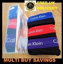 Mens Calvin Klein Boxer Shorts Underwear Low Rise Trunks 3 in a Pack