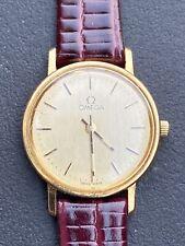 Rare Omega 1455 Quartz Solid 14k Gold Ladies Watch