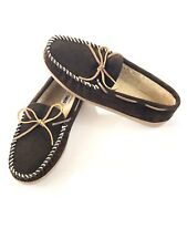 Minnetonka Leather Slippers Tyson Traditional Trapper Whiskey Brown Men's 12