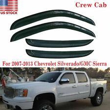 4pcs Window Visors Rain Guard For Chevy Silverado 1500 2500 Crew Cab 2007-2013