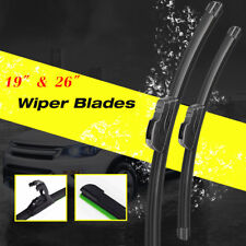 "26"" & 19"" Windshield Wiper Blades Bracketless OEM Quality ALL SEASON PREMIUM USA"
