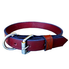 """Adjustable Dog Collar Leather Strong Pet Collar 21-25""""  For large Dogs/Breeds XL"""
