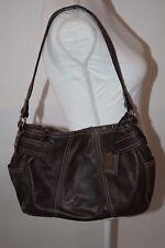 Tignanello Brown Genuine Leather Purse Handbag Magnetic Closure 13 x 9