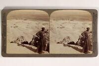 Egitto Tebe Unita Da Luxor Foto Stereo Vintage Citrato 1904