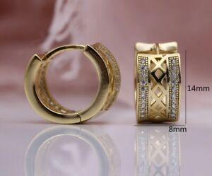 Ohrstecker 2 Stück Gold Kreolen Ohrringe Roségold 585 Creolen Rosé Ohrschmuck 7