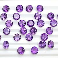 Wholesale Lot 8mm Round Facet Natural African Amethyst Loose Calibrated Gemstone