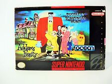 THE ADDAMS FAMILY PUGSLEY'S SCAVENGER HUNT complete SNES Super Nintendo game
