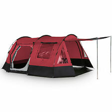 skandika Kambo 4 Person Man Tunnel Camping Tent 3 Entrances Canopy Red New