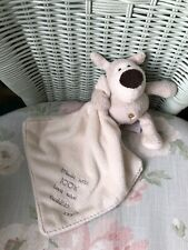 BOOFLE PUPPY DOG COMFORTER BLANKIE SOFTTOY SOOTHER DOUDOU 100% LOVE AND CUDDLES