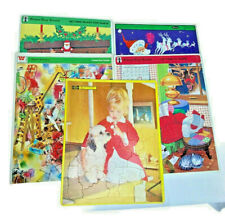 5 Large Christmas Frame-Tray Puzzles - EUC - COMPLETE