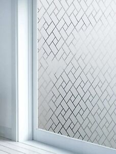 Geometric Pattern Waterproof Privacy Window Sticker Glass Sticker Home Accent