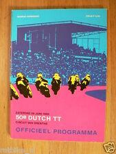 1980 DUTCH TT ASSEN PROGRAMME. GRAND PRIX,MOTO GP,PICTURE  50 YEAR TT,HARTOG,ETC