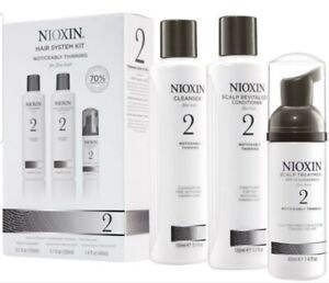 NIOXIN System #2 TRIAL KIT Cleanser  Scalp Therapy Treatment 3 PC SET