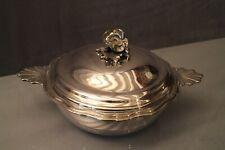 Légumier en métal argenté de style Louis XV