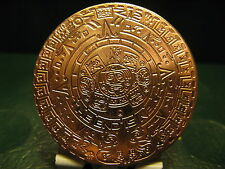 Unique Mayan Calendar beautiful detail copper .999 bullion 1 x 1 oz coins mint,,