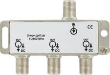 3 Way TV Splitter 5-2300MHz for Saorview Freeview UPC NTL VIRGIN DIGITAL F Type