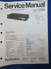 Technics SU-Z550 Integrated Amp Service Manual Factory Original The Real Thing