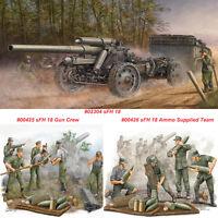 Trumpeter 02304 00425 00426 1/35 15cm sFH 18 Field Howitzer/Gun Crew/Ammo Team