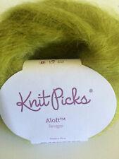 Knit Picks Aloft Yarn - Tarragon Chartreuse Green - Mohair & Silk - 25 g